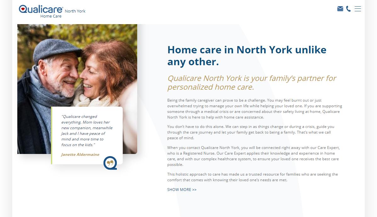 north york qualicare microsite
