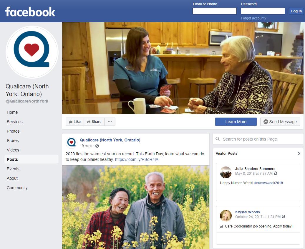 facebook qualicare north york